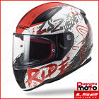 CASCO INTEGRALE FULL FACE LS2 RAPID FF353 NAUGHTY WHITE RED BIANCO ROSSO