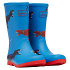Joules Jnr Roll Up Boys Boots Wellington - Blue Dinos All Sizes