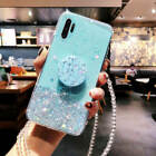 Lovely  With Stand Holder Phone Cases Socket For Samsung Galaxy Note 10 S10 S9