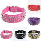 Adjustable Pet Dog Collar Artificial Leather Rivet Spiked Collar Necklace