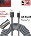 USB 3.1 Type C Heavy Duty charger charging data sync fishing net braided cable