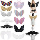 Adults Kids Feather Angel Swallow Wings Fairy Dance Party Fancy Costume Cosplay