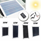 15W 20W 25W Solar Panel 5V 12V Waterproof Car Battery Charger Camping RV Old folks'