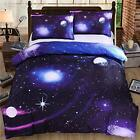4 PCS Full Size 3D Charming Galaxy Print Bedding Sets With Pillow Cases image