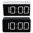 Digital LED Large Display Alarm Clock Travel USB/Battery Operated Mirror Face.