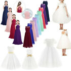 Flower Girl Dress Kid Princess Party Wedding Bridesmaid Formal Lace Long Dresses