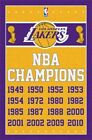 246343 LOS ANGELES LAKERS NBA Champions Years WALL PRINT POSTER FR on eBay