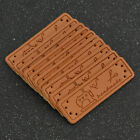 20/50 Pcs PU Leather Labels Tags Clothing Bag Decor Handmade DIY Accessories US