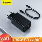 Baseus 65W GaN USB Type C Wall Charger US QC PD 3.0 Laptop Adapter for iPhone 12