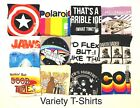 Character Graphic Adult Humor Funny Cool Classic Retro Novelty Variety T shirts