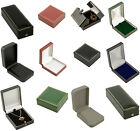 Leatherette Pendant Drop Earring Boxes High Quality Jewellery Chain Pendant Box