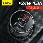 Baseus Dual USB Car Charger 4.8A Fast Charging Power Adapter for iPhone Samsung