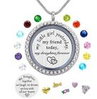 valentines day gift for her lockets with birthstone stainless steel necklace new