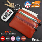 Women Wallet Genuine Leather Coin Purse Small Zippered Change RFID Card Holder image