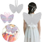 Kids Girls Sparkling Glittery Wings Princess Costume for Cosplay Party Dress Up