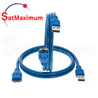 Micro USB 3.0 Cable A Male to Micro B Male Fast Speed Charger Data Cord 3ft 6ft