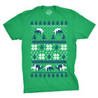 Humping Dogs Funny Ugly Christmas Sweater T shirt Offensive Hilarious Party Tees