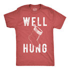 Mens Well Hung T Shirt Funny Christmas Stocking Tee Offensive Humor Xmas Gifts