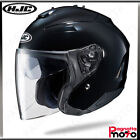 CASCO JET OPEN FACE DOPPIA VISIERA HJC IS-33 II SOLID SEMI FLAT BLACK NERO