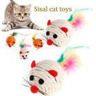 Sisal Simulation Mouse Interactive Cat Teething Toy Pets Scratch Chewing Toys UK