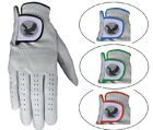 Golf Gloves Glove 100% LEATHER Mens Ladies Right Left Hand White Red Blue Green