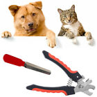 2 Size Pet Dog Cat Nail Claw Clippers Trimmer Scissors + Grooming Cutter File UK