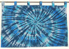 """Thick Cotton Hippie Tie dye dyed (1 panel) Tab Top curtain curtains 39"""" x 27.5"""""""