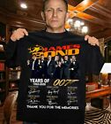 James Bond 58 Years Of 007 1962 2020 Thank You For The Memories Signature Shirt $19.99 USD on eBay