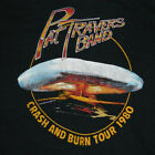 PAT TRAVERS BAND 1980 Tour Cotton Black Men T-shirt S-4XL YY281 image