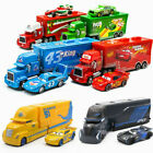 Disney Pixar Cars King Jackson McQueen Mack Container Truck Model Toy Kids Gift