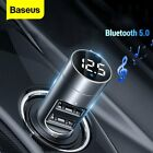 Baseus Wireless FM Transmitter Bluetooth 5.0 Audio MP3 Player USB Car Charger