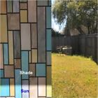 Kyпить Rockrose Privacy Window Film Colorful Bricks Non-adhesive Anti UV stained Glass  на еВаy.соm