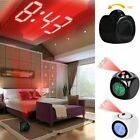 Digital Alarm Clock LED Wall/Ceiling Projection LCD Voice Talking Temperature P