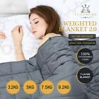 Luxdream Calming Weighted Blanket 7 Layer Bamboo Kids Adults 3.2/5/7.5/9.2kg