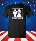 Game Over Funny Bachelor Party Shirt - Groom Funny T-Shirt - Funny Men's Shirt