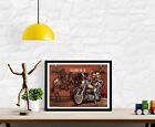 David Mann Poster - Harley Davidson Motorcycle Art - Various Sizes #Charity $17.99 USD on eBay