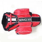 Service Dog Harness vest 2 Patches with Removable Saddle Bags Pockets 5 Colors