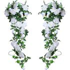 8Ft Artificial Rose Garland Silk Flower Vine Ivy Wedding Garden String Decor