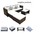 Patio 4pcs Rattan Sofa Set Conservatory Cushioned Couch Garden Furniture Outdoor