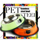 Cat Bowl Pet Supplies Eating Food Feeding No Spill Stainless Steel Easy Clean