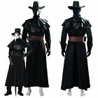 Steampunk Plague Doctor Bird Beak Cosplay Costume Halloween Mask Long Robe Cape