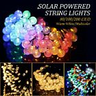 Solar 80/100/200 LED String Lights Outdoor Garden Xmas Party Fairy Decor Lamp