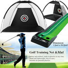 Golf Practice Driving Hit Net Cage Aid Driver / Golf Training Putting Mat MECO
