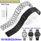 Stainless Steel Watch Band Strap Replacement Wristband 16mm-24mm + Repair Tools image