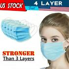 Wholesale Blue Mouth Mask 4-Layers Cloth Fabric Face Mouth Masks
