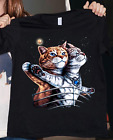 Titanic Cat Funny Cat Lover Men Women T Shirt Cotton S-5XL Black
