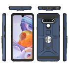 For LG Stylo 5/4 Plus Case Shockproof Hybrid Rugged Cover With Ring Holder Stand
