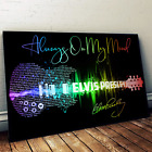 Elvis Presley Always On My Mind Guitar Song Lyric Quote Print Canvas