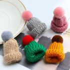 Mini Hat Brooch Sweater Pins Men Women Brooches Knitted Badge Hairball Hats Pin