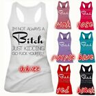 Kyпить Bit*h Letter Print Tank Top Women Sleeveless Casual Summer Vest Shirt Plus Size на еВаy.соm